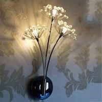 Современные светодиодный бра настенный светильник бра настольные свет Одуванчик Дизайн декоры стены для Спальня ночник