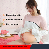 4 5 Months artificial belly silicone pregnant tummy fake pregnancy belly for women and actors Breast Form