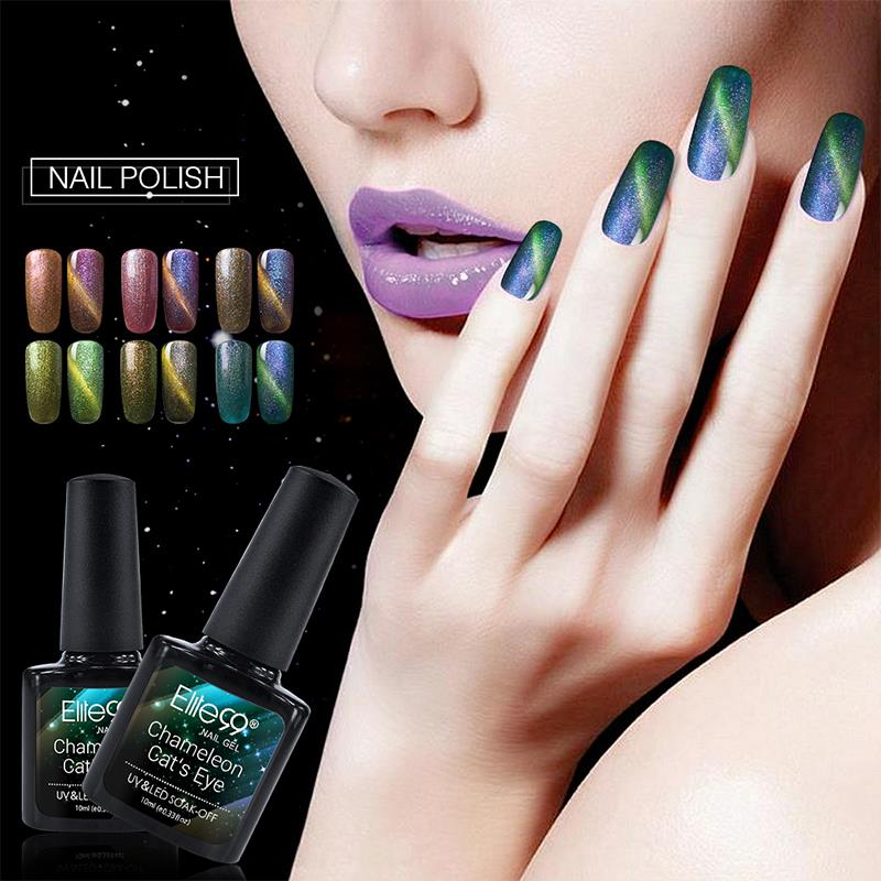 Aliexpress Elite99 Chameleon Cat S Eye Gel Polish Soak Off Uv Need Mag To Effect Amazing Color Changing 10ml From Reliable
