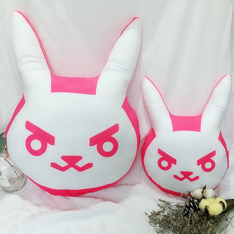 1PC Overwatches Pink Dva Rabbit Plush Pillow Toys OW Game Over Watch Soft DVA Pillow Cosplay Cushions Kids Toys Gifts 2