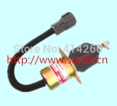 Wholesale Fuel Shutdown Solenoid Valve 1751ES-12A3UC12B1S for Excavator ,5PCS/LOT,12V fuel shutdown solenoid valve 153es 2212480 sa 4269 12 12v for mitsubishi komatsu wa320 3 kubota