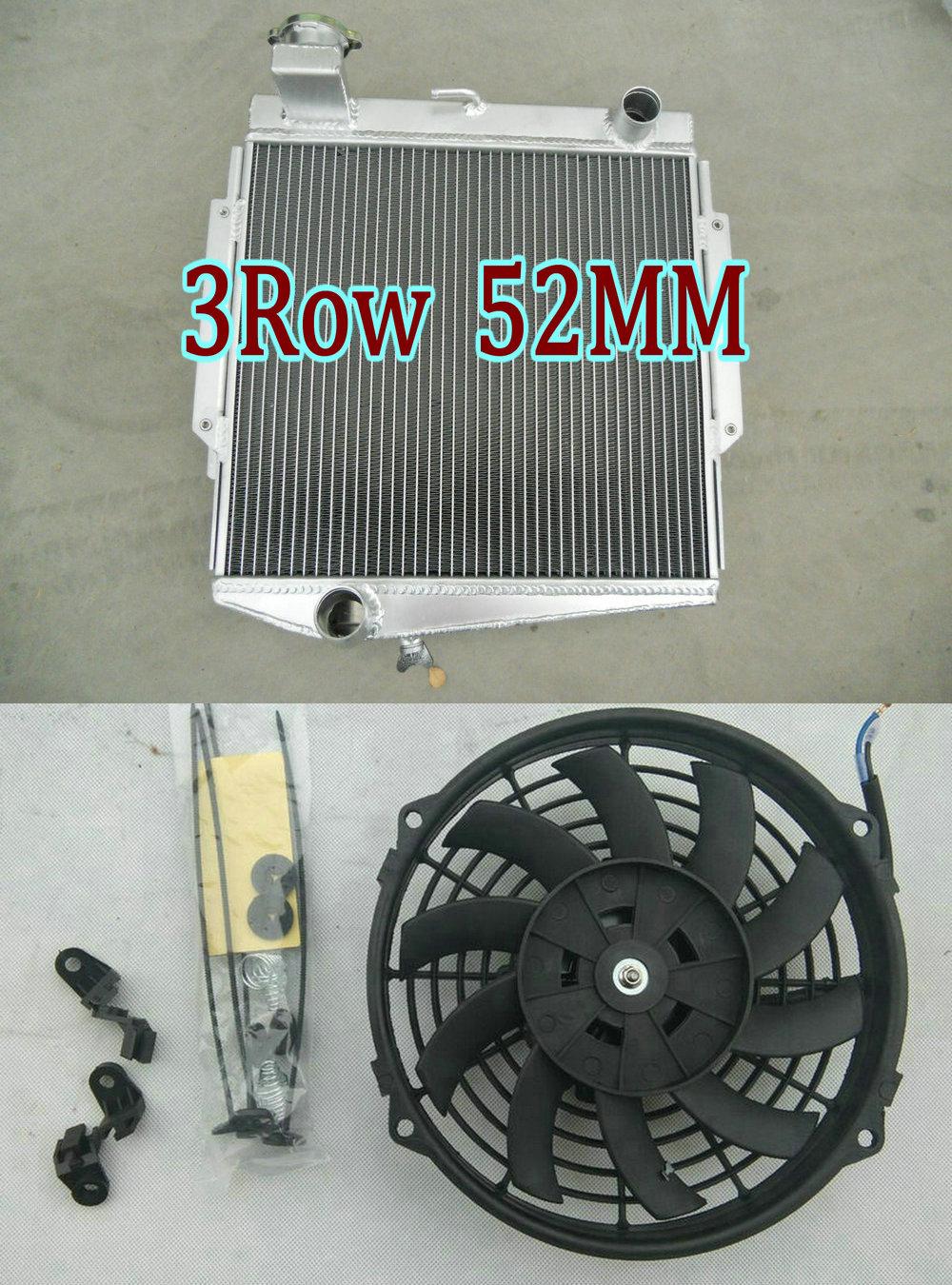 Fan for 1966-1970 Datsun Roadster Fairlady 67 68 69 70 3 ROW Aluminum Radiator
