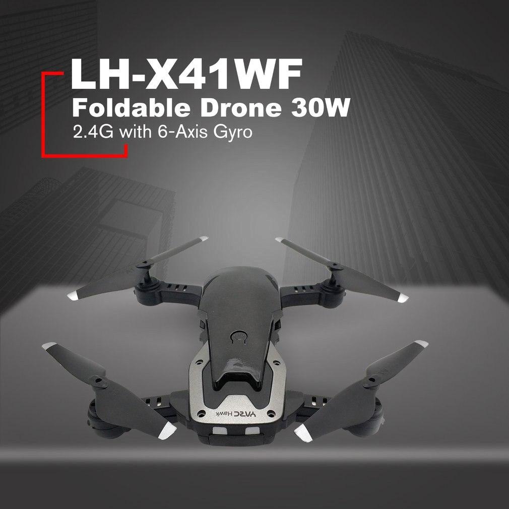 LH-X41WF Drone RC 6 axes Mini pliable FPV Drone WIFI HD caméra Alititude maintien décollage/atterrissage Drone avec jeu de Batteries