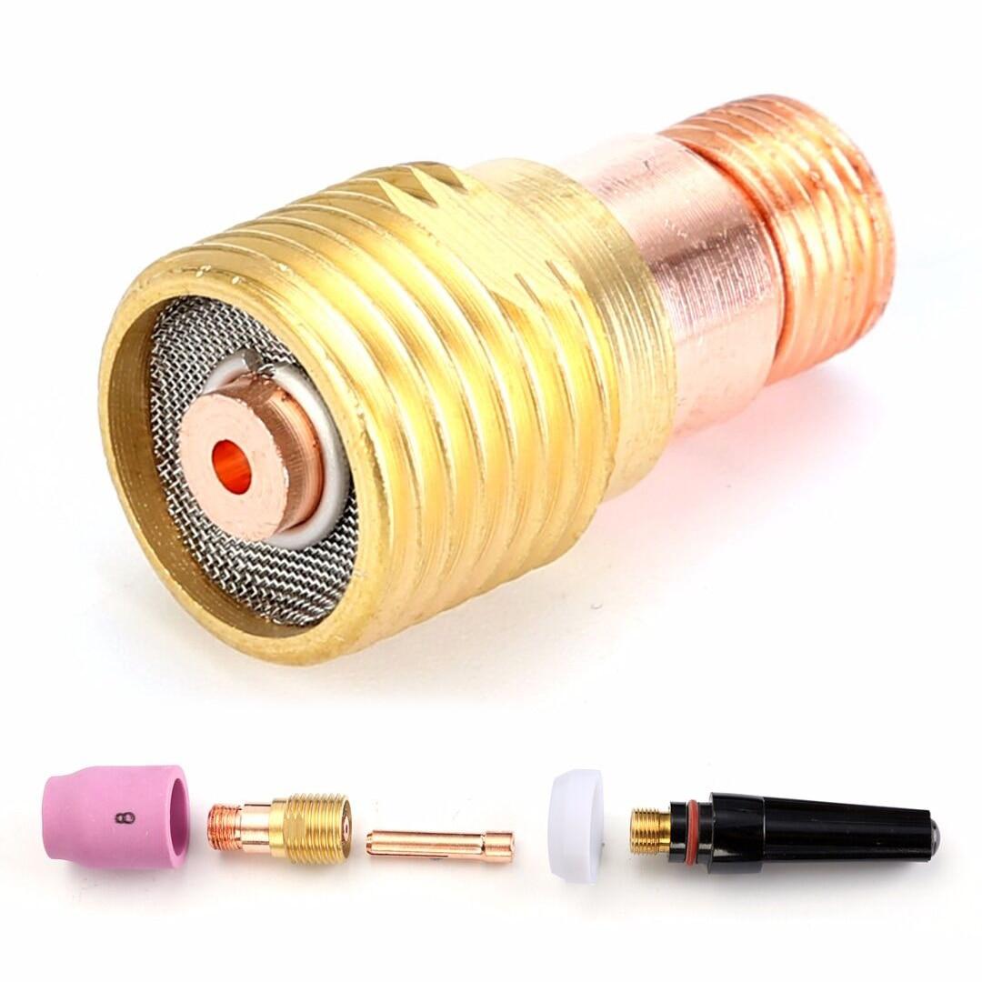 Herramientas eléctricas 5pcs 1,6 mm Gas Saver Pyrex taza Consumable Kit para WP Sr 17 18 y 26 soldadura TIG linterna