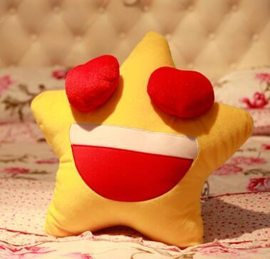 Игрушек! Супер милые плюшевые игрушки счастливые звезды подушка для влюбленных держа Подушка Желтый 1 шт - Цвет: girl style
