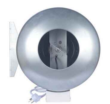 "5 ""Logam Saluran Fan Inline Duct Fan Ventilasi Dapur Exhaust Fan Centrifugal Blower 125 Mm"