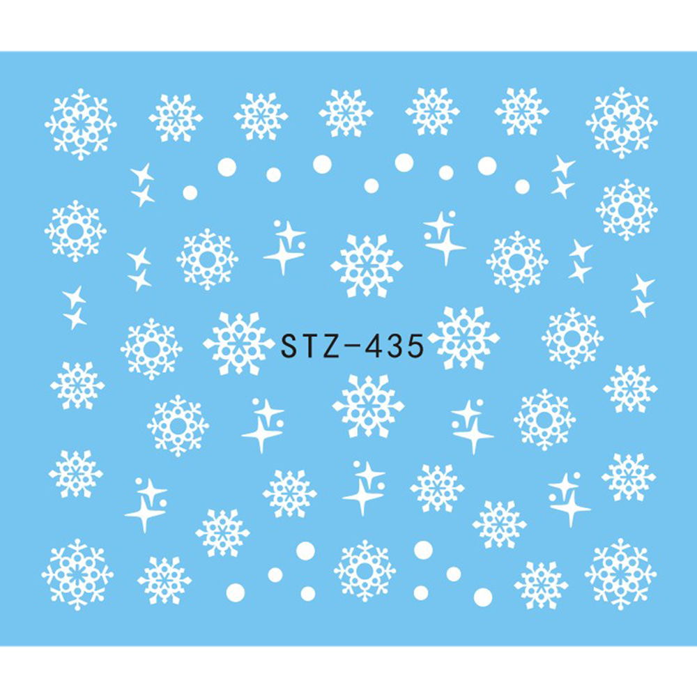 1 Sheet Water Nail Sticker Christmas Design Temporary Tattoos Elk/Snow Flowers/Owl Pattern Transfer Beauty Nail Art TRSTZ429-439 5