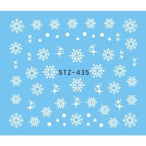 Image 5 - 1 גיליון מים נייל מדבקת חג המולד עיצוב זמני קעקועים איילים/שלג פרחים/ינשוף דפוס העברת יופי נייל אמנות TRSTZ429 439