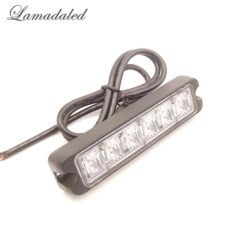 Lamadaled Ultrathin 18w led Police strobe light bar truck flash side lamp auto vehicle surface warning light led yacht light