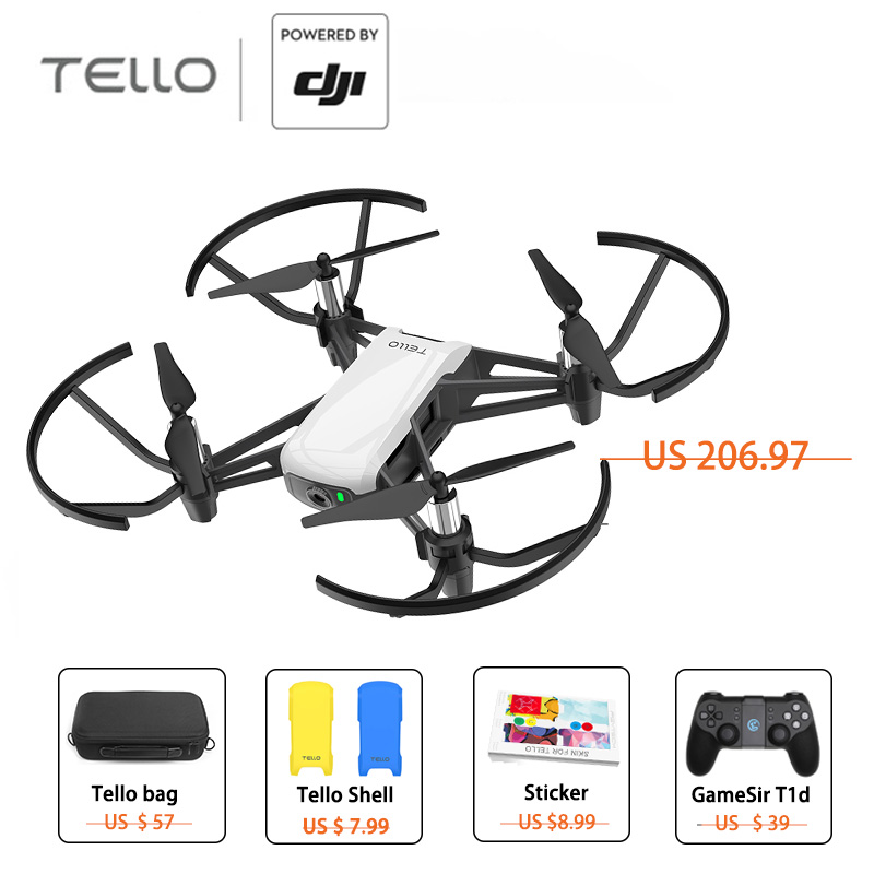 DJI Ryze Tello Drone 720P HD Transmission Camera with GameSir T1d Controller for mini Drone RC