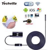 Techvilla wifiワイヤレス用iphone iosアンドロイド内視鏡ボアスコープhd 720 p 2.0mp 6ledチューブ防水検査ビデオカメラ