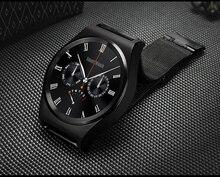 Wasserdichte Volle Runde Bluetooth Smartwatch X10 Stahl Band Smart Uhr Pulsmesser für Android IOS Smart Uhr Tragbare