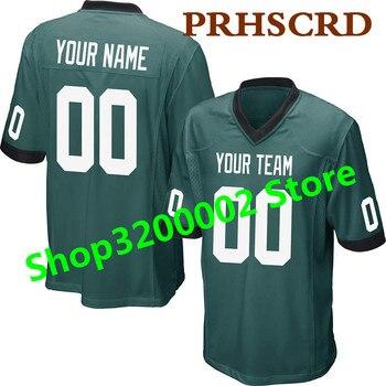 45fc9dc8fa25e Personalizado juego Jersey personalizado nombre cualquier número de cuero barato  Jersey de fútbol americano de calidad