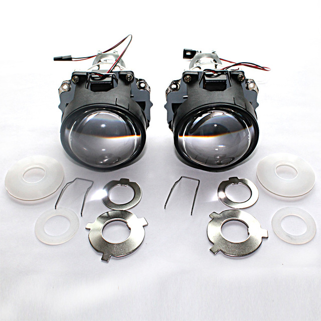 Use H1 Projector Lens In Car Light Source Bi Xenon Lens H4 H7 H11
