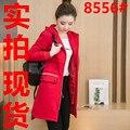 Размер 2016 Новая Осень Мода Женщины Плащ С Капюшоном Удобрений Плюс 200 Jins Жира Мм Пальто Красный Черный 8556