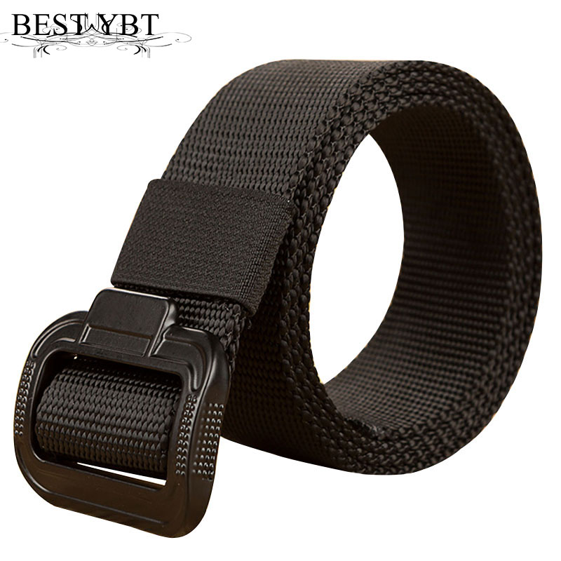 Men's Belts Best Ybt Unisex Canvas Belt Alloy Smooth Buckle All-match Woven Canvas Men Belt Casual Youth Sport Fashion Cowboy Pants Belt