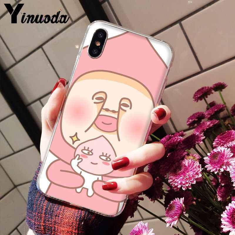 11pro MAX Nhật Bản hoạt hình Dễ Thương Kobito Đào Hoàng Tử Bán Cao Cấp Thoáng Mát Ốp Lưng Điện Thoại cho iPhone 8 7 6 6S Plus X XS Max 10 5 5S SE XR