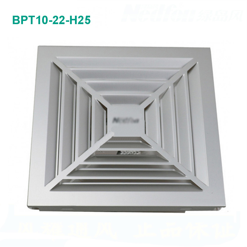 BPT10-22-H25 Ventilator fan bathroom window exhaust fan toilet bathroom wall silent exhaust fan 220V/18W Panel size 300*300mm integrated ceiling ventilator bathroom wc kitchen silent exhaust fan