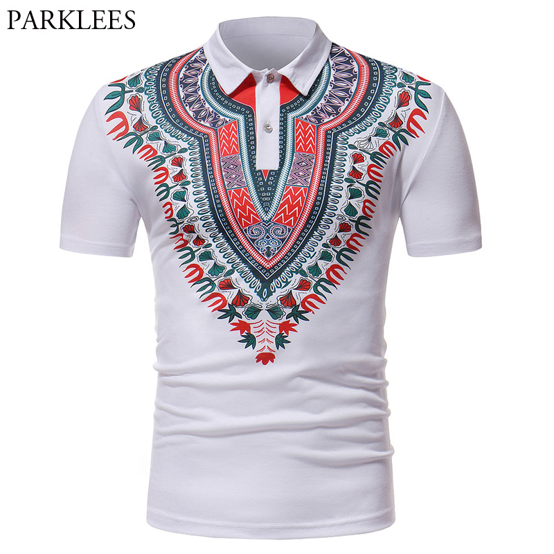 Black White Dashiki   Polo   Shirt Men Summer New Cotton Mens   Polo   Shirt Casual Slim Fit   Polo   Homme Fashion Camisa   Polo   Masculina