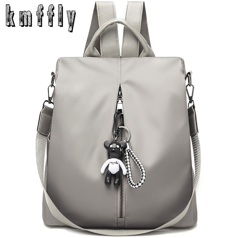 2019 Fashion Women Backpacks Solid Zipper Travel Backpack Female Oxford Travel Bag Anti-theft Cloth Backpack Mujer Mochila