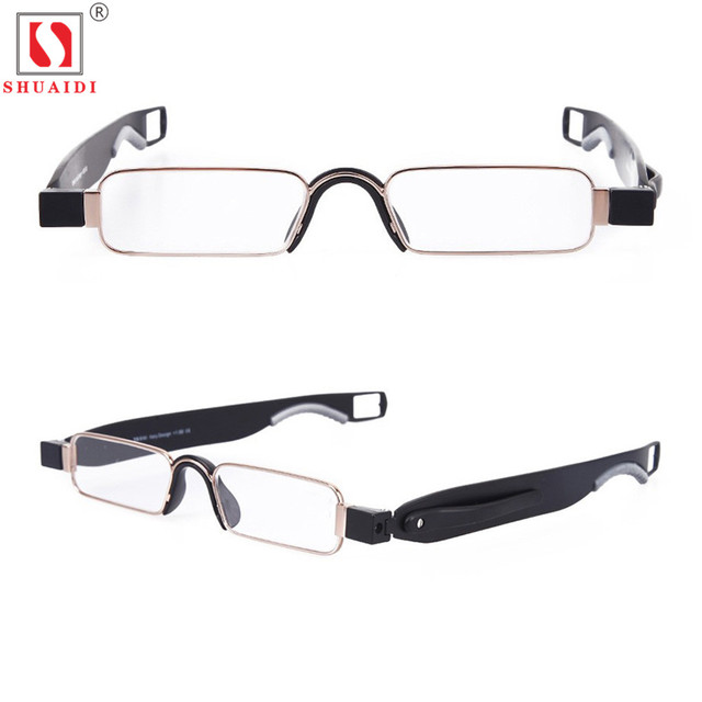 636d8ec98e8 Portable 360 Degree Rotation Folding Reading Glasses Men Women Anti-Fatigue  Clear Transparent Lens Foldable Eyeglass +1.0 To+4.0