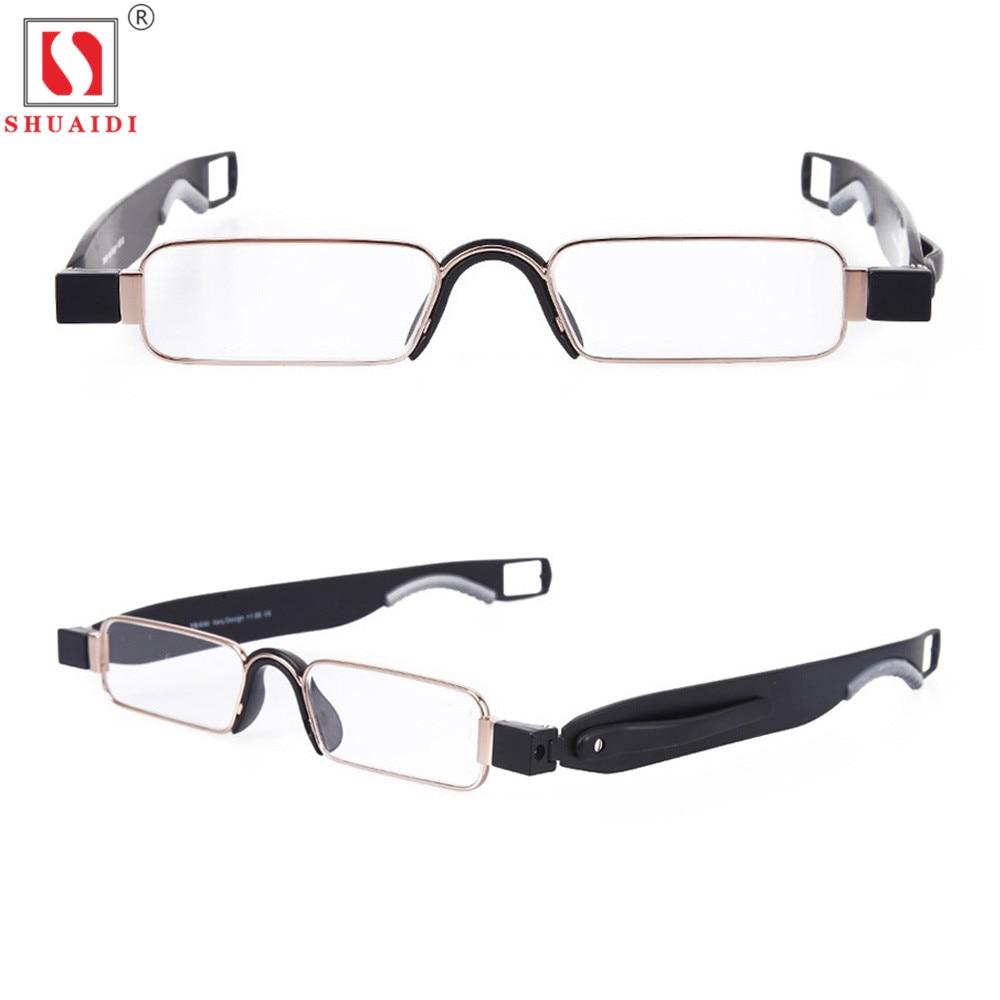 Portable 360 Degree Rotation Folding Reading Glasses Men Women Anti-Fatigue Clear Transparent Lens Foldable Eyeglass +1.0 To+4.0