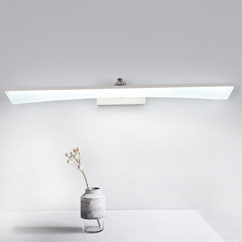8W-24W 400-1200mm Modern Bathroom Led Mirror Light Indoor Waterproof Led For Bathroom Wall Sconce Lamp Apliques De Pared Luz zinuo modern led mirror light 6w 12w waterproof 33cm 53cm for bathroom wall sconce lamp apliques de pared luz ac 90v 260v