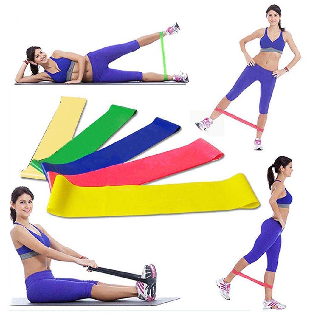 Йога сопротивление резинки Крытый Открытый Фитнес Оборудование мм 1,1 мм-0,35 мм Пилатес Спорт тренировки эластичные ленты 5 цветов