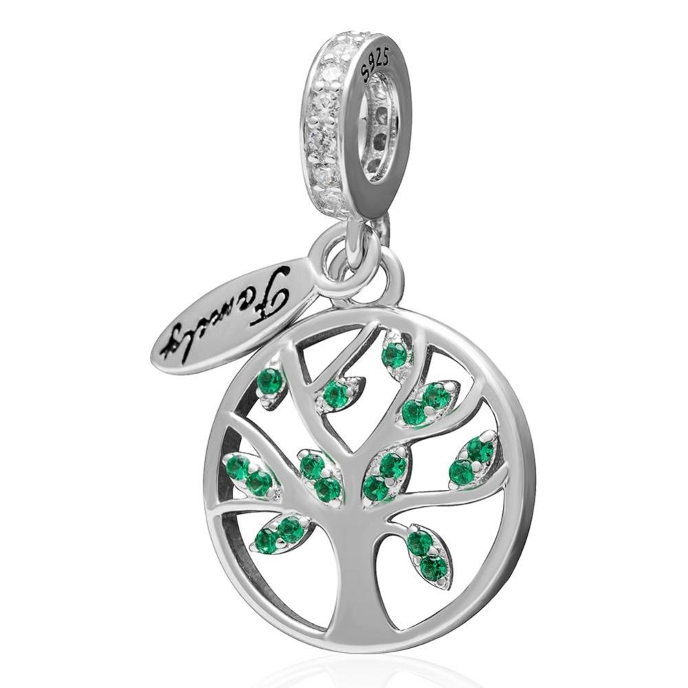 Hot Sale Authentic 925 Sterling Silver Tree of Life Oscila Encantos Beads caber as Principais Marcas Pulseiras Frete Grátis