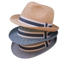 Wholesale New 2016 Mens Solid Colors Paper Fedoras Hats Women Summer Fedoras Caps Men Fashion Sun Straw Cap Womens Straw Hat