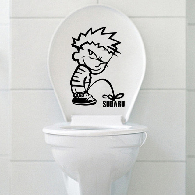 Lovely Boy Quotes Funny Novelty Toilet Seat Sticker Decal Fashion 3D ...