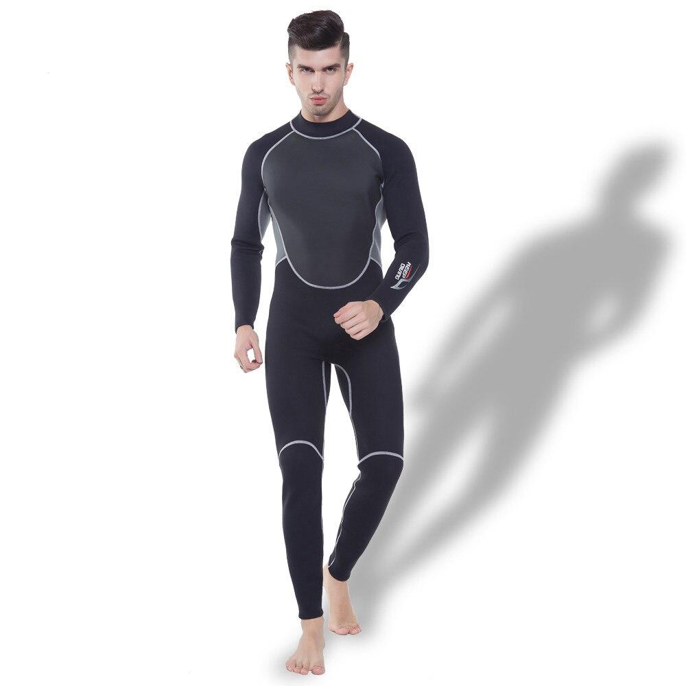 Garder plongée hommes 3 MM néoprène combinaison une pièce maillot de bain corps complet hommes plongée sous-marine surf plongée en apnée chasse sous-marine costume de maillots de bain