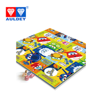 AULDEY Super Wings Modern Ludo/Flight chess Play Mat with chess pieces family Puzzle game Baby NON TOXIC Crawling rugs kids toys