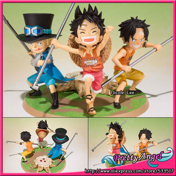Japanese Anime Original Bandai Figuarts ZERO ONE PIECE Action Figure - Luffy, Ace, Sabo -Gikyoudai no Yakusoku- japanese anime one piece original megahouse mh variable action heroes complete action figure dracule mihawk