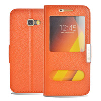 For Samsung Galaxy A5 2017 Case Fashion Genuine Leather Flip The Window Cover For Samsung Galaxy