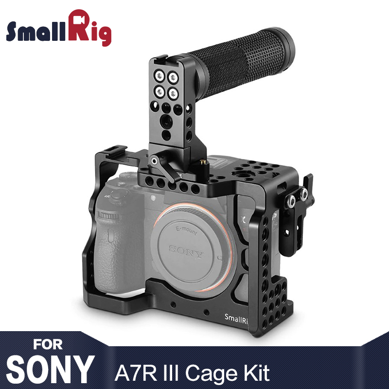 SmallRig Dual Camera Cage Kit for Sony A7R III With Top Handle Grip HDMI Clamp 2096 kitrcp268888gyuns03008 value kit rubbermaid slim jim handle top rcp268888gy and unisan plunger for drains or toilets uns03008