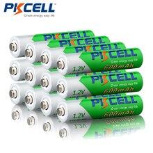 12 шт./лот, никелево металлогидридные аккумуляторы PKCELL, 1,2 В, 600 мАч, 1200 циклов