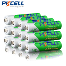 12pcs/lot PKCELL NIMH Rechargeable AAA Pre charged 1.2V 600mAh Ni MH Low Self discharged Batteries 1200Cycles