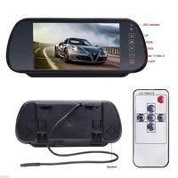 7 Digital TFT LCD Color HD Car Rear View Mirror Monitor With 2AV Input Remote Control