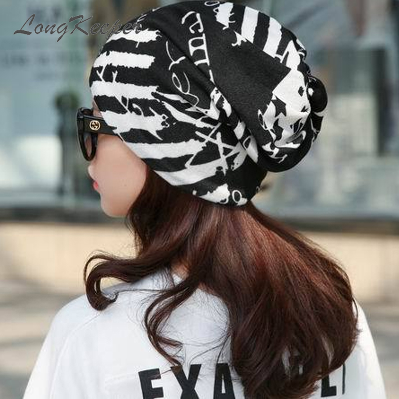 LongKeeper New Fashion Women Headwear Female Spring Winter Caps Star Hats Ladies Autumn Hip-hot   Skullies     Beanies