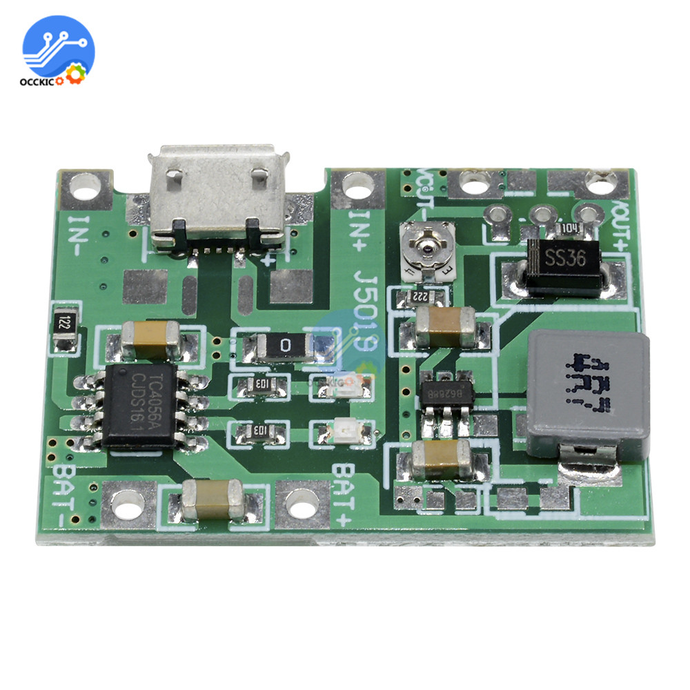 BMS Lithium Li-ion 18650 3.7V 4.2V Battery Charger Board USB DC-DC Step Up Boost Module For Power Bank Battery Charger