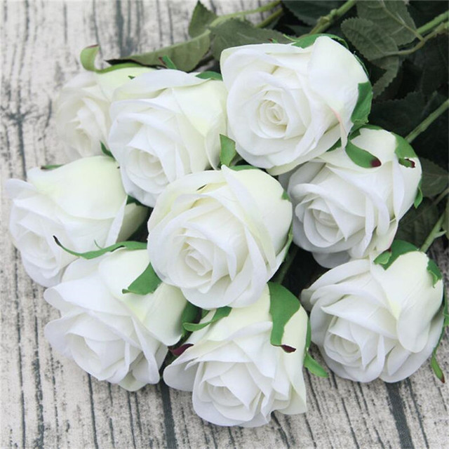 20pcs rose flowers artificial rose flower stems 70cm long whitered 20pcs rose flowers artificial rose flower stems 70cm long white redbluepink mightylinksfo
