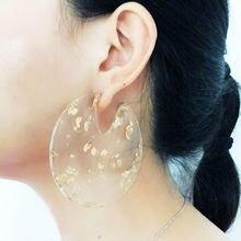 Gothletic Золотые/Серебристые цветные прозрачные акриловые серьги