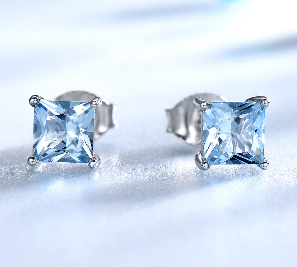 Sky blue topaz sterling silver earrings EUJ071B-1 (2)