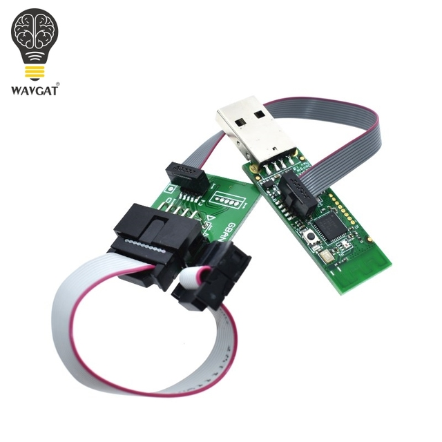 Wireless Zigbee CC2531 CC2540 Zigbee Sniffer Bluetooth BLE 4.0 Dongle Capture Module USB Programmer Downloader Cable Connector