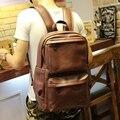 Novos homens mochilas do vintage mochila de couro pu tamanho grande saco de viagem estudante mochila laptop casual sacos de escola para adolescentes meninas