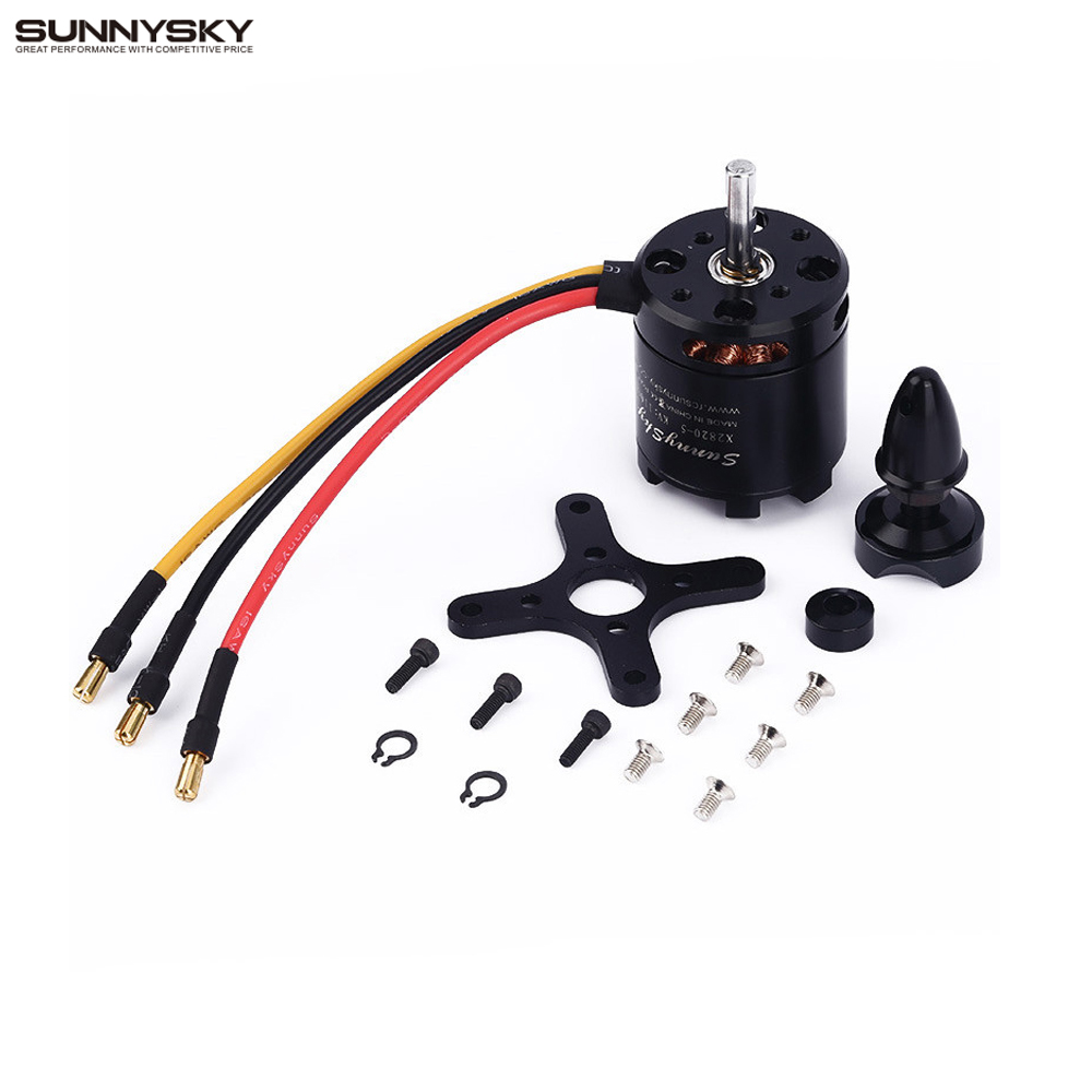 1 pcs Sunnysky X2820 800KV 920KV 1100KV Brushless Motor For RC helicopter Airplane FPV Quadcopter milti rotor 2017 dxf sunnysky x2206 1500kv 1900kv outrunner brushless motor 2206 for rc quadcopter multicopter