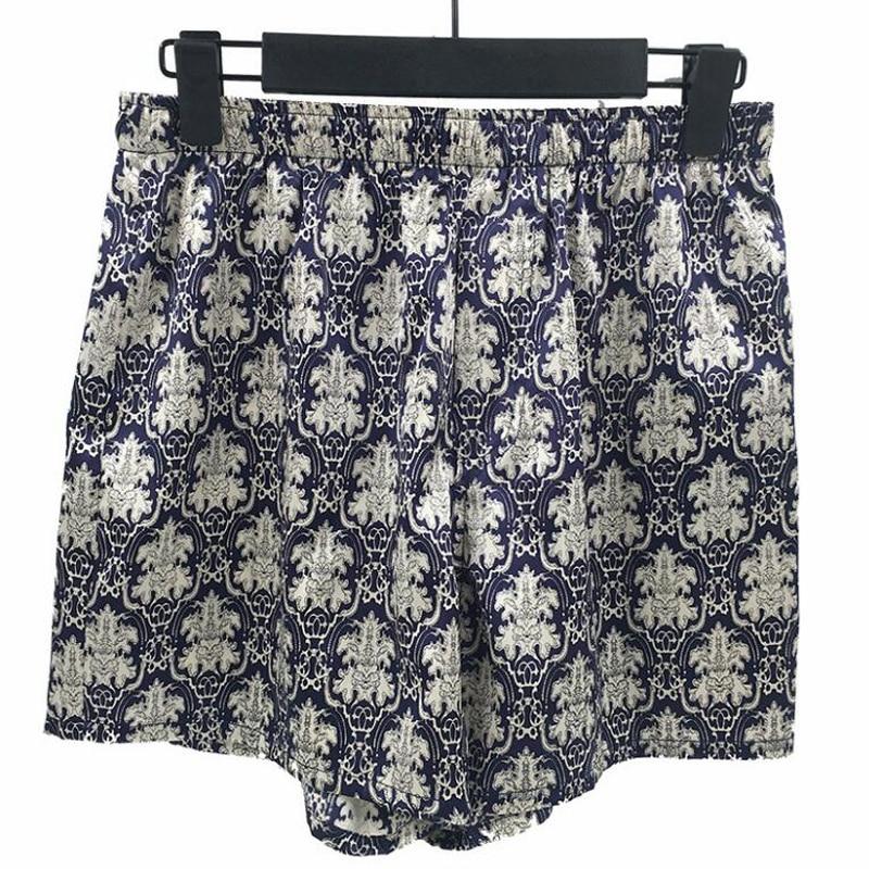 100 de Seda do Homem Calça Marca 100% Shorts De Seda Homens Swimshorts Praia Printing Board Shorts Calças de Verão Respirável Homens Curto Esporte homme