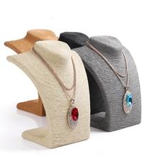 CALIENTE-Venta de 4 Colores Marco Del Soporte de Exhibición de La Joyería Mostrar Maniquí Collar de Cordón Decoración Colgante Para Las Mujeres Al Por Mayor de Buen Precio