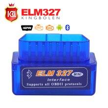 Супер МИНИ ELM327 Bluetooth V2.1 OBD2 Code Reader Работать на Android Torque ELM 327 Поддержка OBDII Интерфейс Авто CAN BUS протоколы